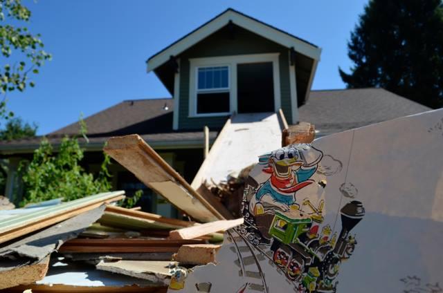 Demolition slide