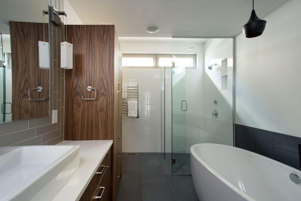 Walk-in shower details Bellingham bathroom remodel