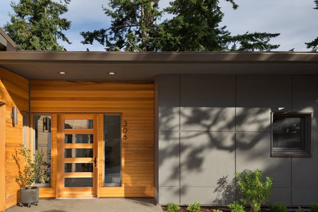 High performance doors at the Bright Green project