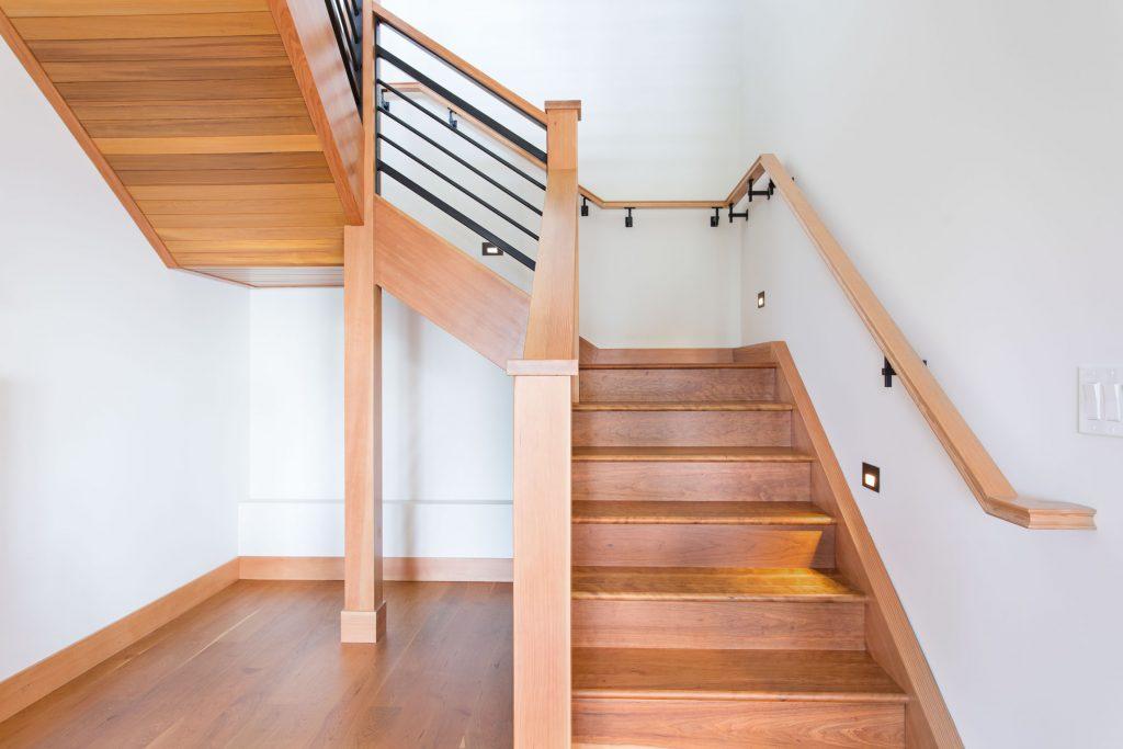 Green building custom stairway
