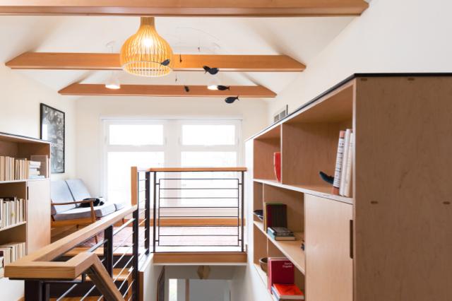 Stairs, landing, Sunnyland, Bellingham remodel