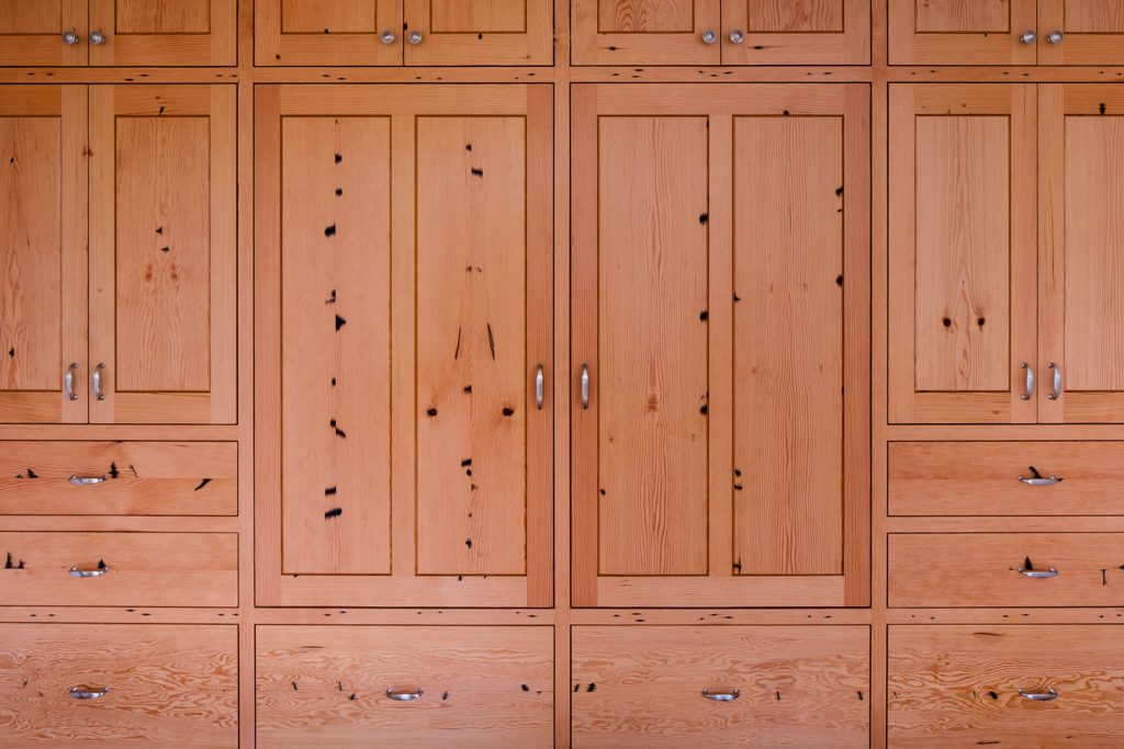 Reclaimed fir cabinets by Renew Woods