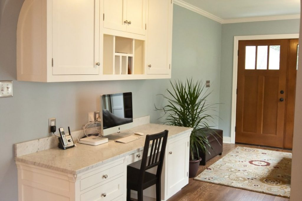 Home office in a Bellingham general contractor kitchen remodel
