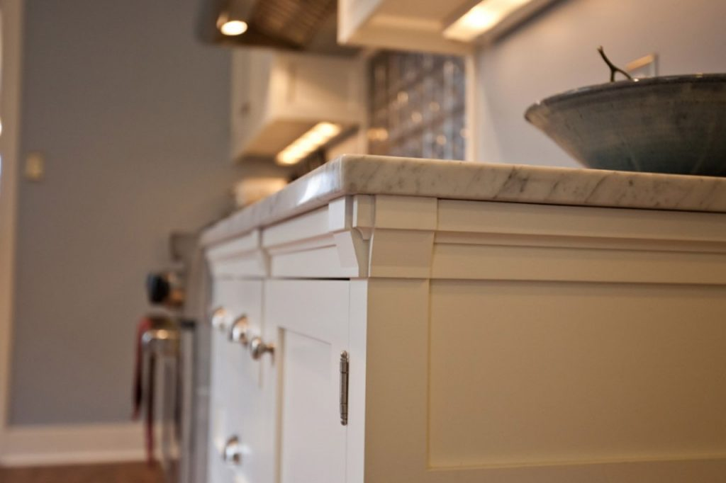 Cabinet details on a Bellingham general contractor kitchen remodel
