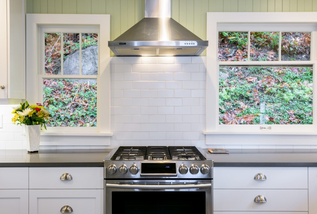 Range hood and custom cabinets