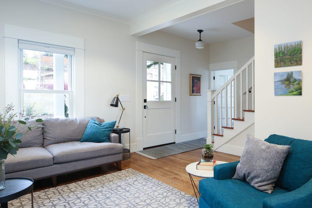 Bellingham general contractor living room remodel
