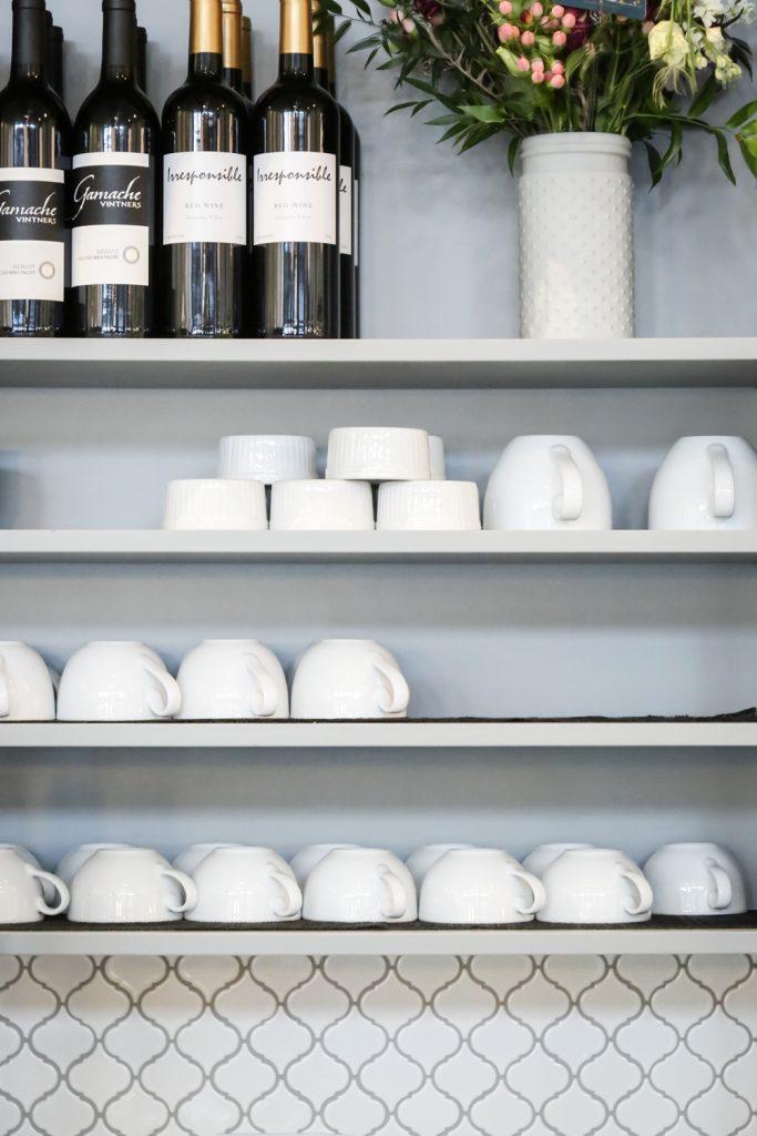 Pure Bliss restaurant remodel cabinet details in Bellingham, Washington