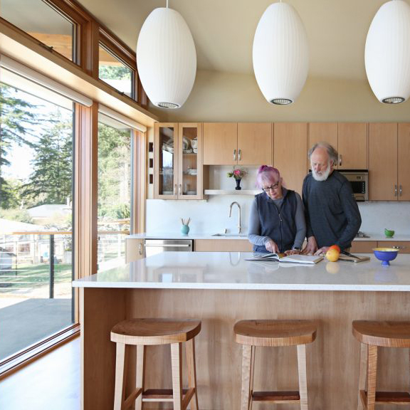 People standing in a kitchen