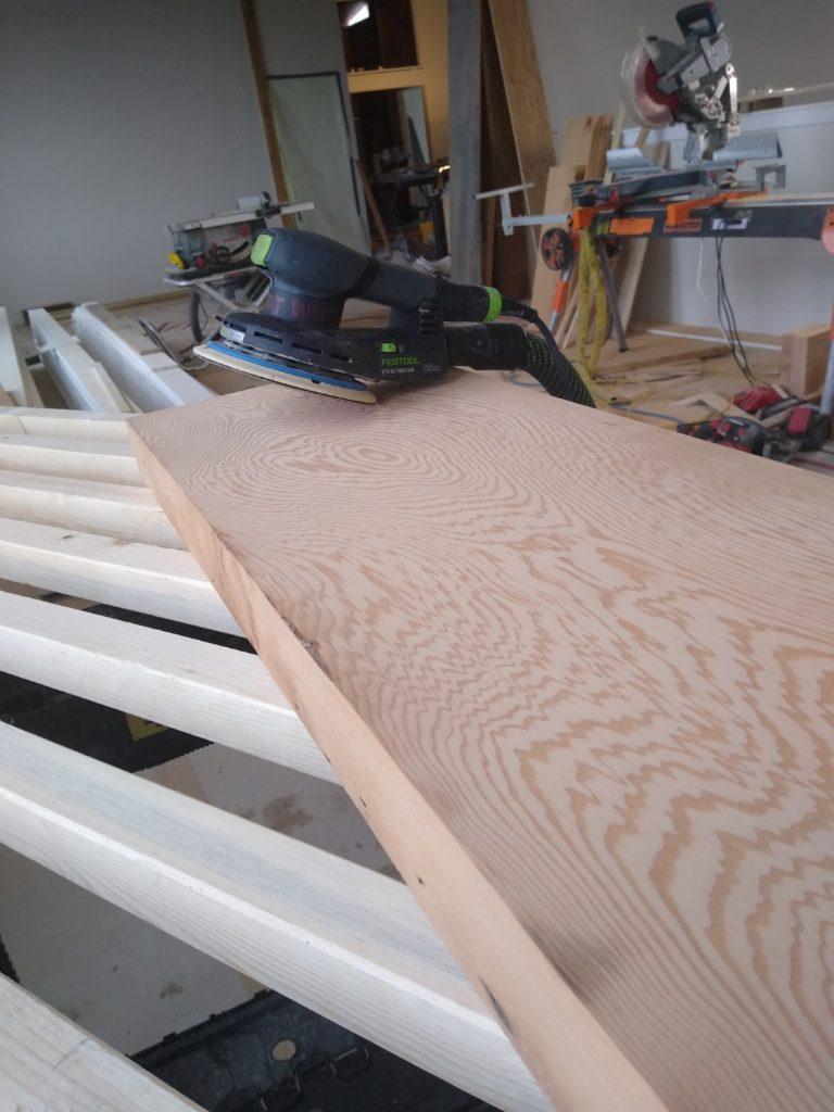 Cleaning reclaimed fir flooring