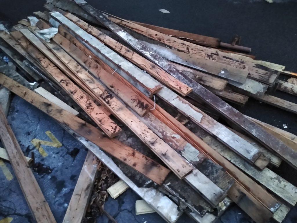 Salvaging reclaimed fir flooring